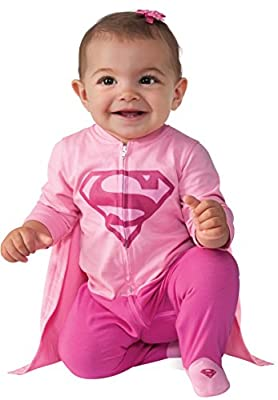 Supergirl Superhero Newborn Infant Baby Girl Sweatshirt Hoodie Jacket with Cape Pink