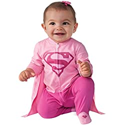 Costume Baby Girl's DC Comics Superhero Style Baby Supergirl Costume, Multi, 6-12 Months