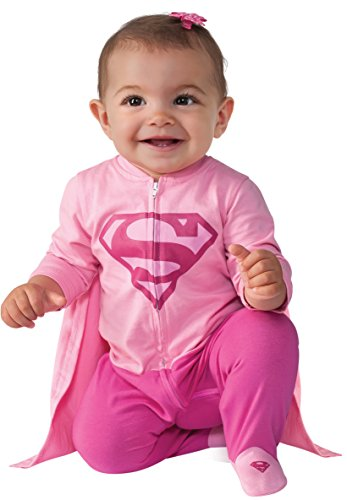 3 Family Costumes (Rubie's Costume Baby Girl's DC Comics Superhero Style Baby Supergirl Costume, Multi, 0-6 Months)
