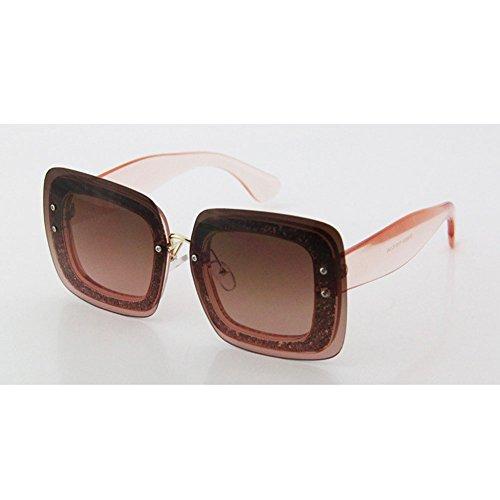 cuadradas Sol de Gafas Femeninas 2 Gafas DT Redondas de vanguardistas 3 Sol Femeninas Color Gafas q1fExUcCT