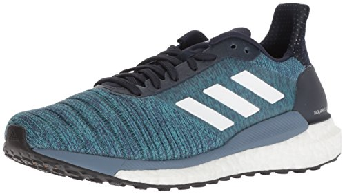 adidas Men's Solar Glide Running Shoe, Legend Ink/White/Aqua, 9 M - Supernova Shoes Glide Adidas