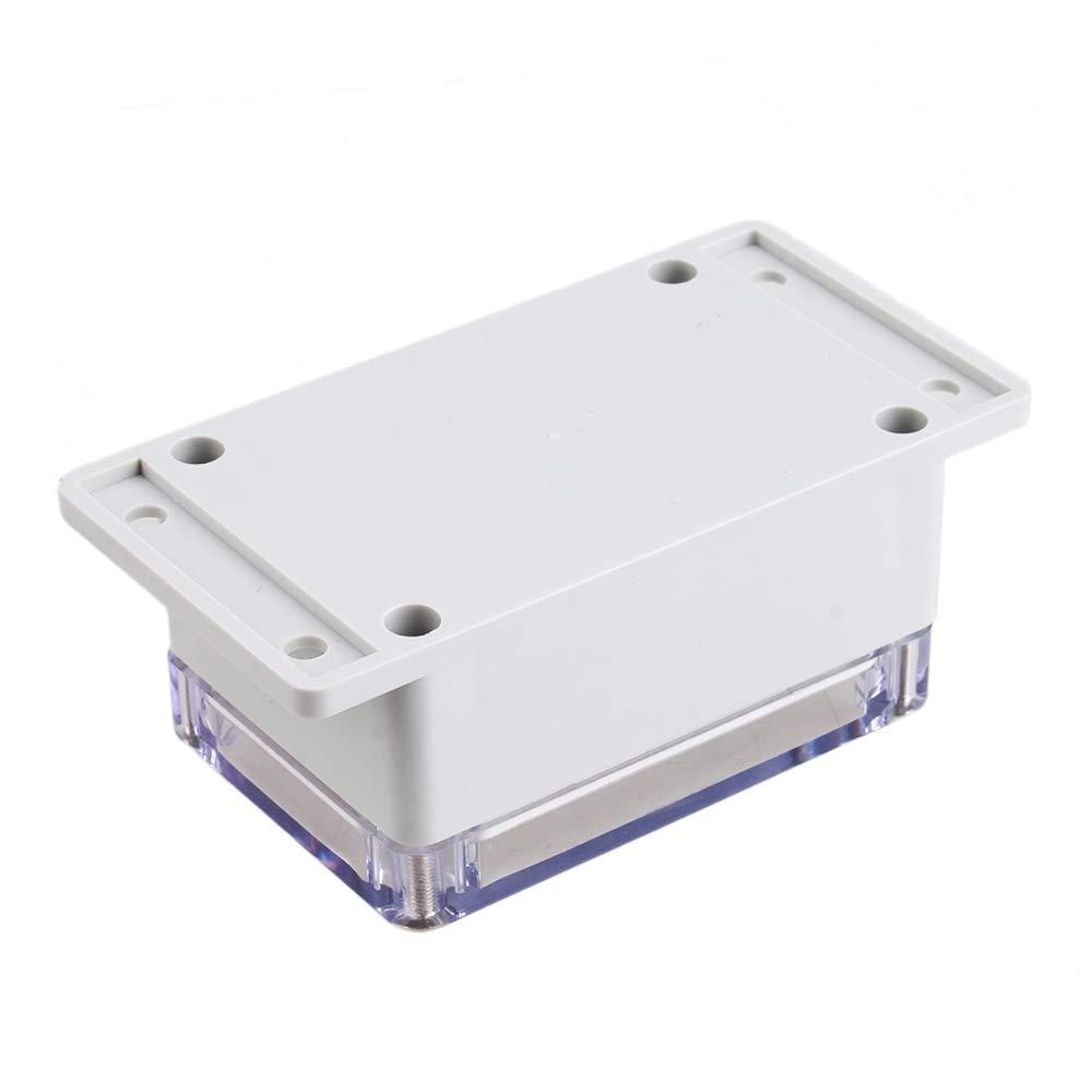 Bo/îte de jonction plastique /étanche transparente 132 mm x 68 mm x 50 mm Blanc gris/âtre