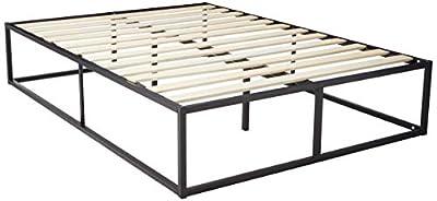 Zinus Modern Studio 6 Inch Platforma Low Profile Bed Frame/Mattress Foundation/Boxspring Optional/Wood slat support, Twin from Zinus