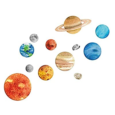 Solar System Wall Decal | Space Wall Decals | Perfect for a Creating a Space Themed Room: Baby