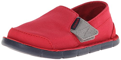 Crocs Kids 16242 Cabo PS Sneaker ,Pepper/Navy,6 M US Big Kid