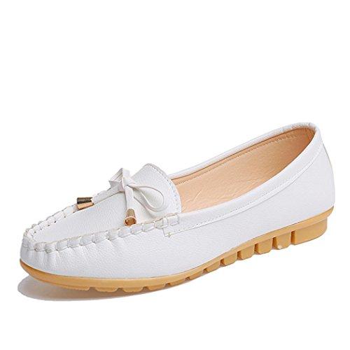 Ouneed® Flip Flops Damen Erwachsene Zehentrenner , Wohnungen Schuhe Slip on Komfort Schuhe Flache Schuhe Loafers Weiß