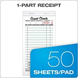 Adams Guest Check Pads, Single Part, Perforated