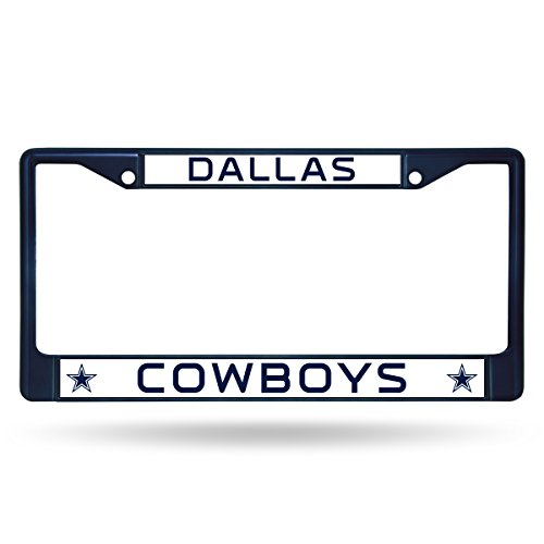 Rico Industries NFL Dallas Cowboys Colored Chrome Plate Frame, Navy (Cowboys Frame Dallas Chrome)