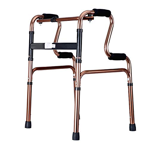 (XRX Bariatric Walker for Seniors and Handicapped, Extra Wide Adjustable Folding Walker with Heavy Duty Support and Dual Release Locking, Mobility Assistance for Tall and Large Individuals)