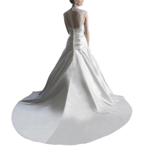 Schatz BRIDE Weiß Brautkleider Kapelle GEORGE mit A Perlen Hochzeitskleider Zug Kleid Prinzessin LinIe Organza Applikationen gIBnUTq