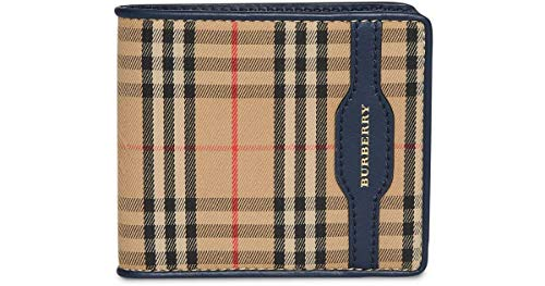 - Burberry Men's Check Bifold Wallet with Leather Trim
