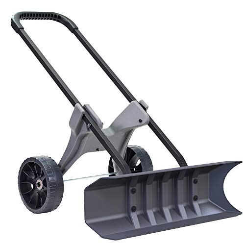 Power Dynamics 30 Inch SnoDozer Rolling Snow Shovel on Wheels - Made in USA Version by Vertex