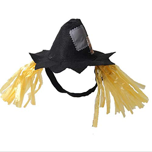 Roblue Pet Dog Scarecrow Hat Halloween Party Funny Cute Cosplay Costume 1 Pcs -