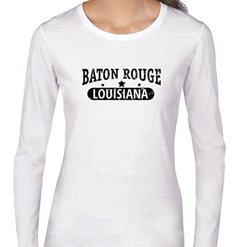 Hollywood Thread Trendy Baton Rouge, Louisiana With Stars Women's Long Sleeve T-Shirt -