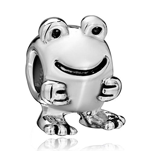 Frog Animal Charm - CharmSStory Happy Big Eyes Frog Animal Charms Beads Charms For Bracelets