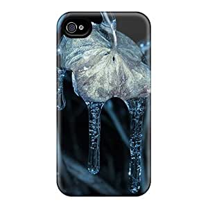 Cynthaskey Case Cover Protector Specially Made For Iphone 4/4s Freezing Rain