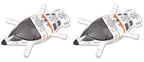 HobbyFlip 2 x Quantity of Walkera QR W100S 5.8Ghz FPV Quadcopter Upper Body Cover Shell Part # QR W100S-Z-08 by HobbyFlip