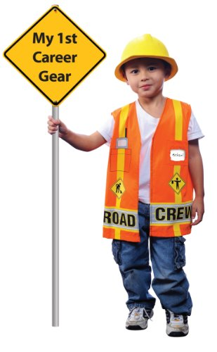Aeromax My 1st Career Gear Road Crew, Easy to put on shirt fits most ages 3 to 6 - Daycare Worker Costume