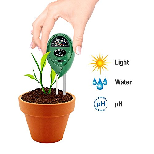 Light and pH MoonCity 3-in-1 Soil Moisture Acidity Meter Plant Tester NEW
