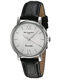 Nivada NP16008LACPI Fierce Reloj Cuarzo Análogo, color Plata/Negro