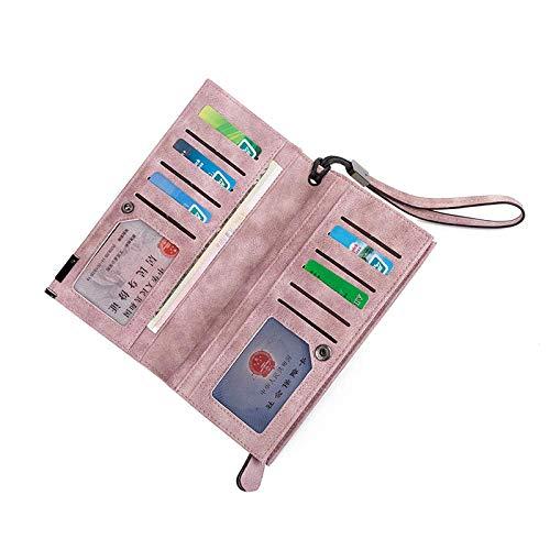 Monedero Mujer Con Para monedero Pink Cremallera De Monedero Bolsa color Hombro fxwpCTqHf