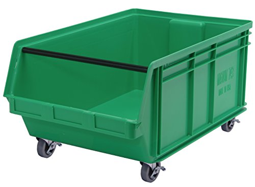 - Quantum Storage Systems QMS843MOBGN Heavy Duty Mobile Magnum Bin with Spread Bar, 29