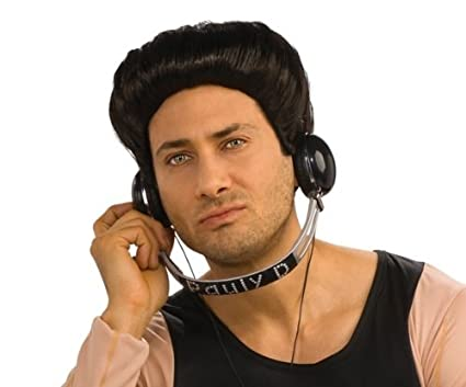Jersey Shore Costume Accessory Pauly D Dj HeadphonesBlack SilverOne Size