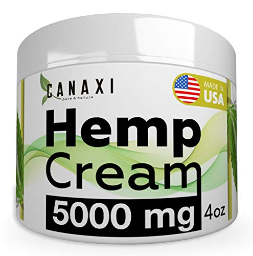 Natural Hemp Extract Pain Relief Cream 5000MG - 4oz- Hemp Salve Essential Gel Arnica Inflammation Arthritis, Knee, Joint & Back Pain Muscle Pain Relief - Made in USA - EMU Oil - Skin Ointment Balm