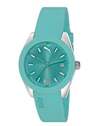 Puma Motorsport Grip 3HD Unisex Quartz Watch with Blue Dial Analogue Display and Blue Silicone Strap PU102712003