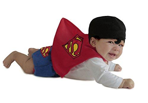 Princess Paradise Baby Boys' Superman Diaper Cover Set, Red, 0/3 Months -
