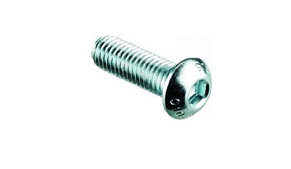 8mm Tornillos Cabeza de Botón (10 Paquetes) M8 x 50mm A2 ...