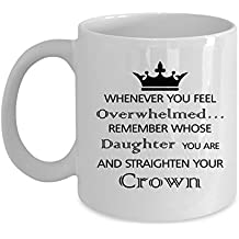 Sebastian's design Whenever You Feel Overwhelmed…Remember Whose Daughter You Are and Straighten Your Crown | Unique Gift for Women And Teen Girls | Sympathy Gift | Gift Wrapped
