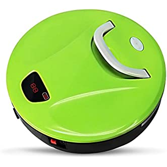 FINE DRAGON Robot Sweeper Automatic Floor Cleaning Robot Sweeping Robotic Machine with Portable Handle (Green)