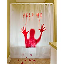 Amazon Halloween Shower Curtain Set