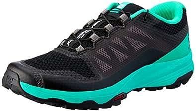 Salomon Women's XA Discovery Trail Running Shoe, Black/Atlantis/Magnet, 6.5 US