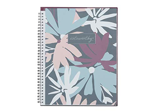 Blue Sky Noteworthy 2019-2020 Academic Year Weekly & Monthly Planner, Clear Flexible Cover, Silver-Tone Twin-Wire Binding, 8.5