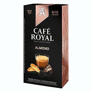 10 capsules de café Almond 100% Arabica Café Royal