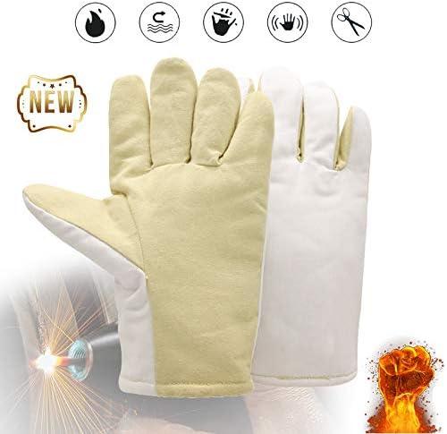 フォージ溶接溶接機手袋、作業安全手袋、バーベキュー用の極度の耐熱性と耐火性/暖炉/ティグ溶接機/オーブン/Stストーブ/調理/ベーキング