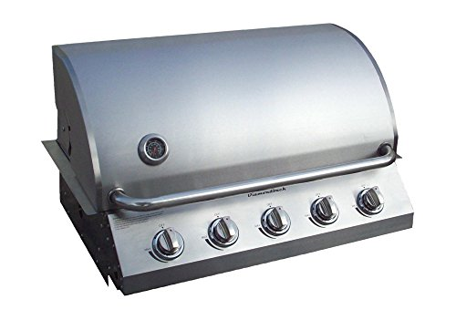 Diamondback Built-In Grill 5 Burner Propane LP Natural Gas 32″ Drop Stainless NG