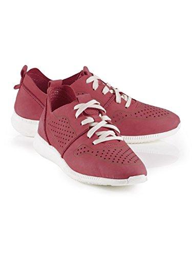 Walbusch Damen Hirschleder-Sneaker Einfarbig Rot