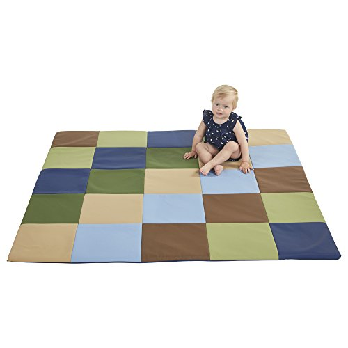 Patchwork Mat - ECR4Kids SoftZone Patchwork Toddler Play Mat, Earthtone