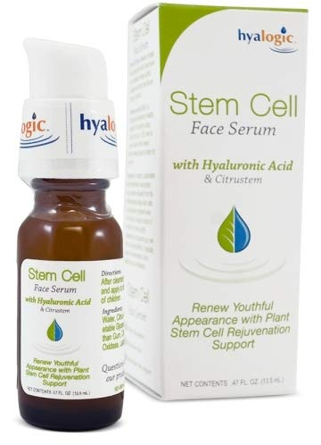 Hyalogic Stem Cell Face Serum - Infused With Citrustem - Plus Premium Hyaluronic Acid - Helps to Renew Youthful Appearance and Rejuvenate Skin .47 Fl oz