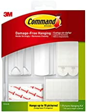 Command Picture Hanging Kit, White, Indoor Use, Hanges up to 7 Pictures (17221-ES)