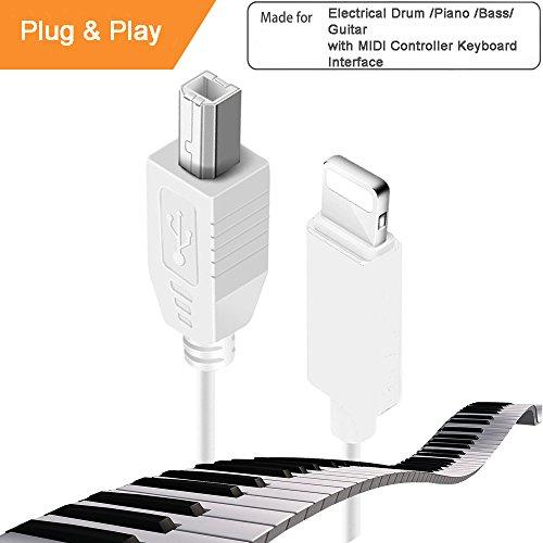 Lightning to MIDI Instruments for Electronic Organ Drum, USB