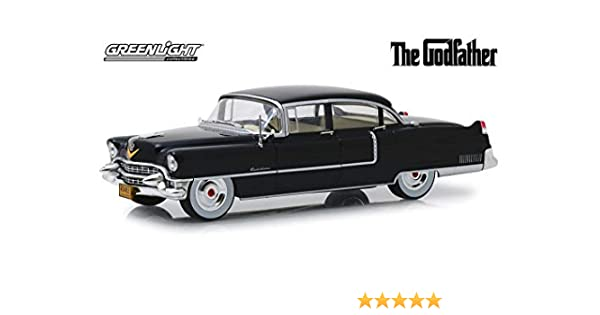 DIE CAST # 84091 GREENLIGHT THE GODFATHER 1955 CADILLAC FLEETWOOD SERIE 1:24