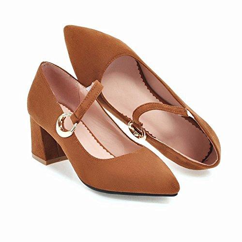 Charm Slip On Mee Court Women's Heel Shoes Block Yellow Shoes Itxff1wEq