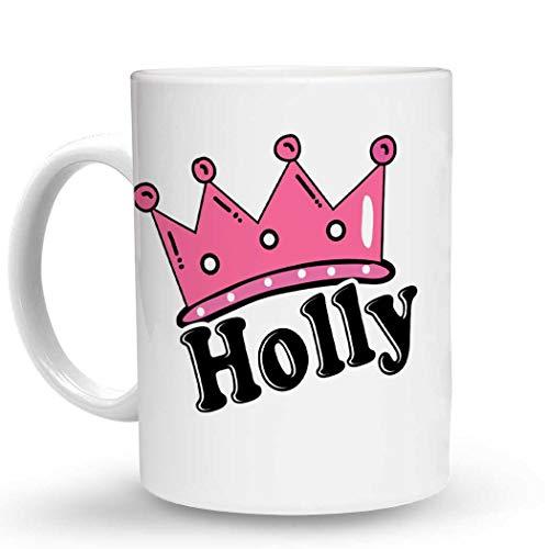 Makoroni Holly Female Name - 11 Oz. Unique COFFEE MUG, Coffee Cup