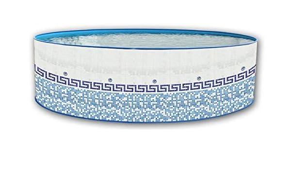 Piscina de acero redonda decorada mosaico 4,00 x 0,90m 8151 ...