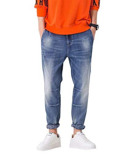 Jeans Ragazzo Dimensioni Destroyed Pantaloni Da Vintage Blau3 Denim Uomo Grandi Di Moda q1BBvI8xnw