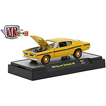 M2 Machines 1971 Plymouth Cuda 340 Detroit Muscle R23 1:64 Scale in BOX
